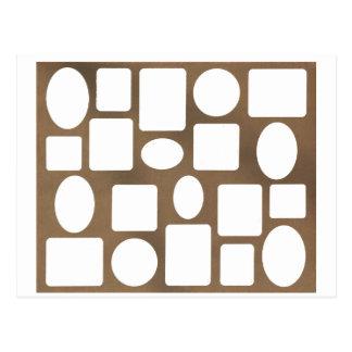 Paisagem Brown da moldura para retrato o MUSEU Cartoes Postais
