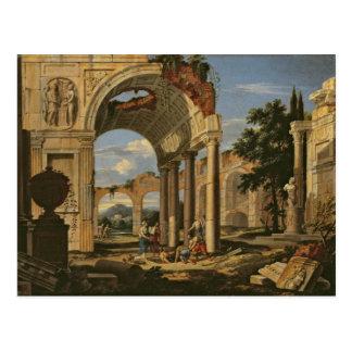 Paisagem com ruínas, 1673 cartão postal