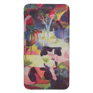 Paisagem com vacas e um camelo bolsa de celular