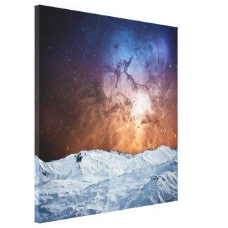 Paisagem cósmica do inverno