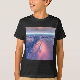 Paisagem da geleira do Fractal Camiseta