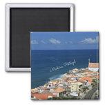 Paisagem de Madeira, Portugal Ímã Quadrado
