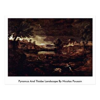 Paisagem de Pyramus e de Thisbe por Nicolas Cartão Postal