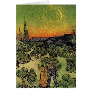 """Paisagem de Van Gogh a """"com o cartão de passeio do"""