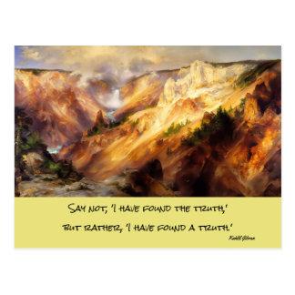 paisagem de yellowstone cartão postal