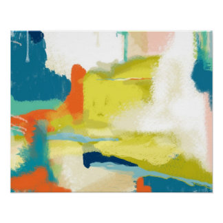 Posters abstratos na Zazzle