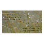 Paisagem Dewy da grama ou cartões de visitas do