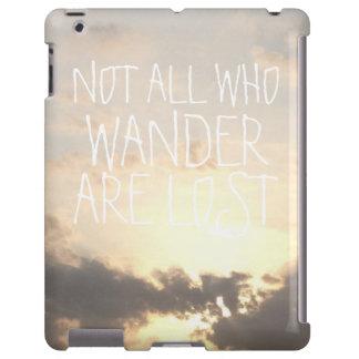 Paisagem do céu do crepúsculo do alvorecer com a capa para iPad