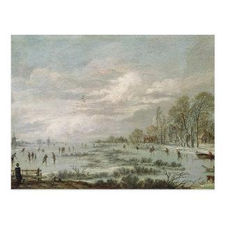 Paisagem do inverno cartão postal