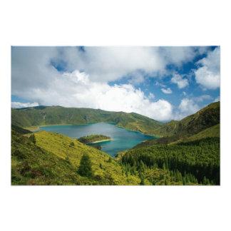 Paisagem do lago azores impressão de foto