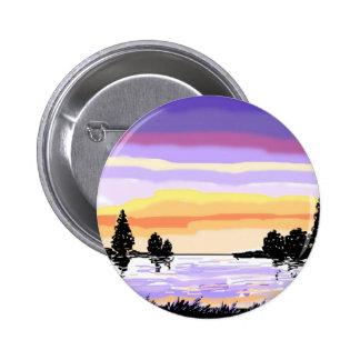 Paisagem do lago sunset botons