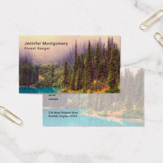 Paisagem do norte cénico rústica cartão de visitas
