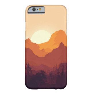 paisagem do por do sol capa barely there para iPhone 6