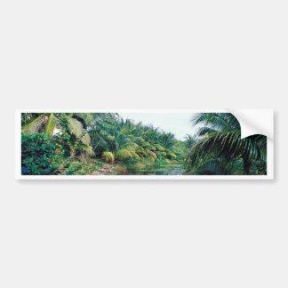 Paisagem do rio da selva de Amazon Adesivo Para Carro