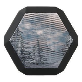 Paisagem dos abeto do inverno caixa de som preta com bluetooth