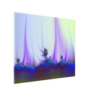 Paisagem estrangeira em canvas azuis impressão em tela canvas