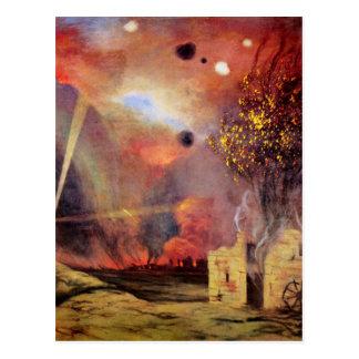 Paisagem fora das ruínas e fogos por Felix Cartão Postal