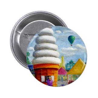 Paisagem gigante do carnaval do cone do sorvete botons