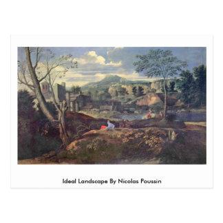 Paisagem ideal por Nicolas Poussin Cartão Postal
