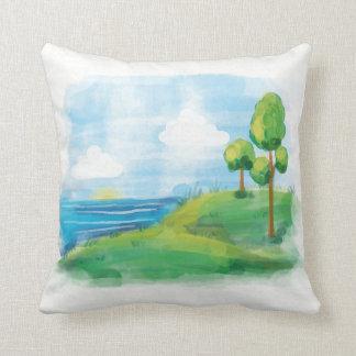 Paisagem idílico bonita do verão travesseiros