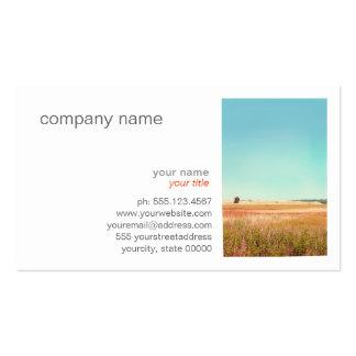 Paisagem inspirada, céu azul, natureza modelos cartões de visita