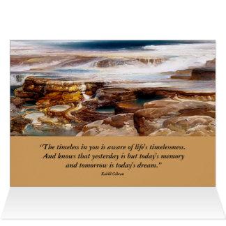 paisagem inspirada de yellowstone cartão comemorativo