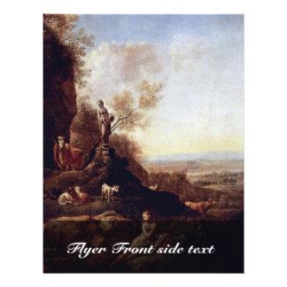 Paisagem italiana pelo cristão de Klengel Johann ( Panfleto Personalizados