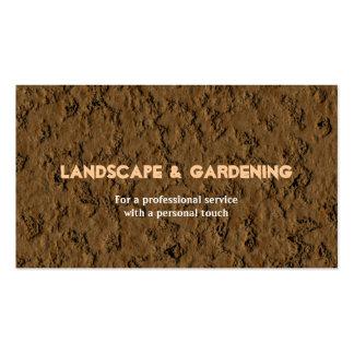Paisagem & jardinagem cartão de visita