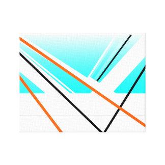 Paisagem minimalista do porto abstrato da brisa impressão em tela