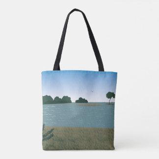 Paisagem no rio bolsa tote