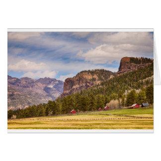 Paisagem ocidental de Colorado Cartão Comemorativo