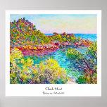 Paisagem perto de Montecarlo, Claude Monet 1883 Posters
