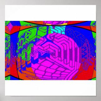 paisagem psicadélico poster