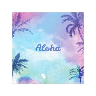Paisagem roxa de Havaí da aguarela