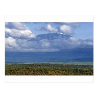 Paisagens do marco do Monte Kilimanjaro Tanzânia Cartão Postal
