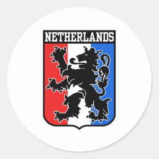 Países Baixos Adesivos Redondos