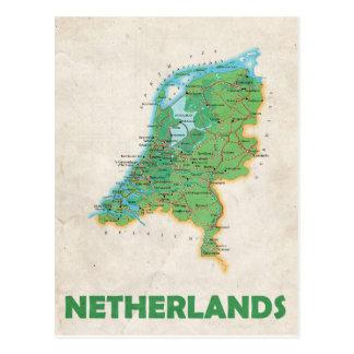 ♥ Países Baixos dos CARTÃO do MAPA