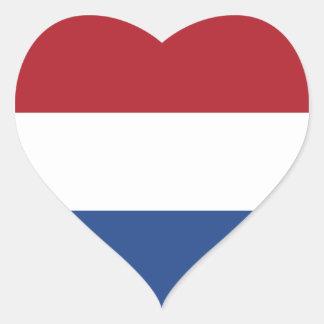 Países Baixos/Holland/bandeira holandesa/holandesa Adesivo Coração