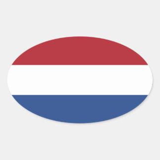 Países Baixos/Holland/bandeira holandesa/holandesa Adesivo Oval