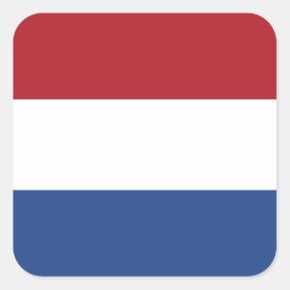 Países Baixos/Holland/bandeira holandesa/holandesa Adesivo Quadrado