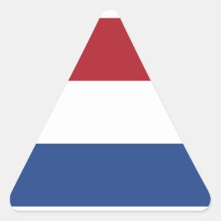 Países Baixos/Holland/bandeira holandesa/holandesa Adesivo Triangular
