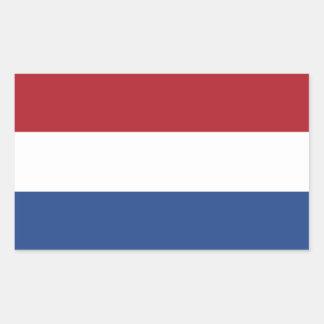 Países Baixos/Holland/bandeira holandesa/holandesa Adesivos Retangular