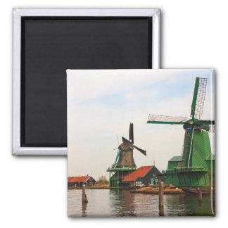 Países Baixos: Moinhos de vento, Zaanse Schans, Ho Ímã Quadrado