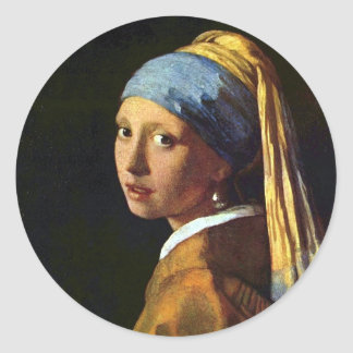 PAÍSES BAIXOS--Vermeer: Menina com o brinco da Adesivo