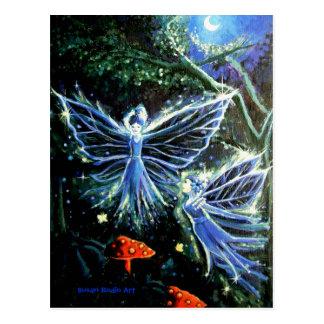 Países das fadas da lua azul - cartão