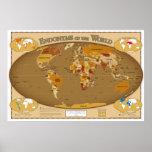 Países do mundo em sua língua local (Endonyms) Pôsteres
