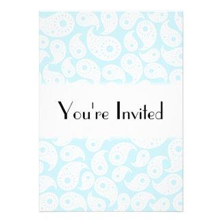 Paisley. azul branco e Pastel Convite Personalizados