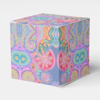 paisley cor-de-rosa azul roda caixa