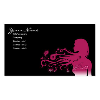 paisley cor-de-rosa cartão de visita