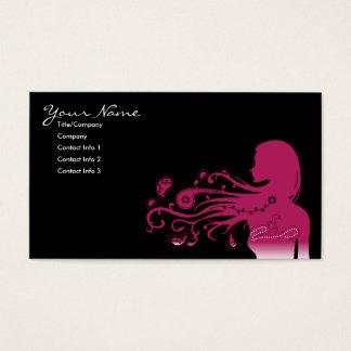 paisley cor-de-rosa cartão de visitas